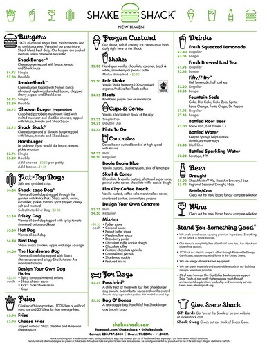 Shake Shack New Haven Menu Shake Shack New Haven Menu