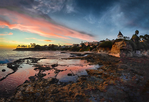 Sunset At Shaw's Cove, Laguna Beach, CA | by WJMcIntosh