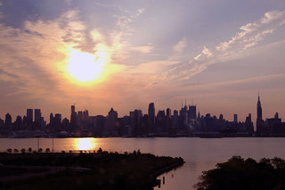 Sunrise on the NY skyline.... | by Piefi