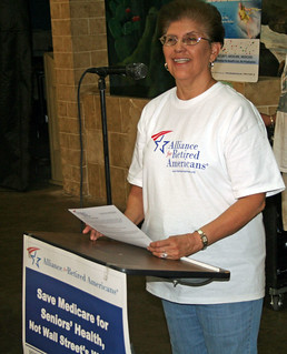 Marty Alvarado at Grandparents Day in Dallas | by Alliance for Retired Americans