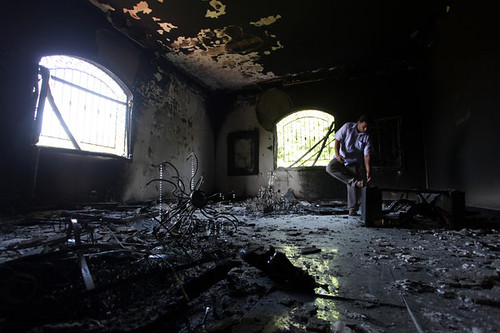 Inside the former US Consulate in Benghazi in the aftermath of an attack that resulted in the death of the American ambassador and other personnel. Rebel government forces say the attack was planned. | by Pan-African News Wire File Photos