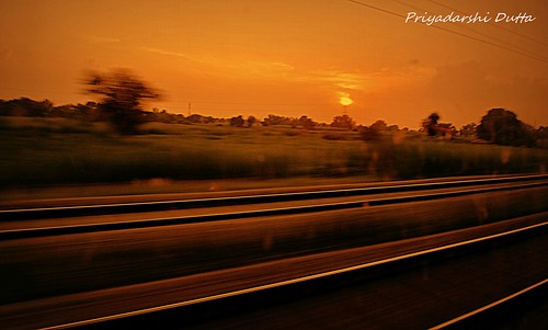 Sunset on the tracks | by PD03