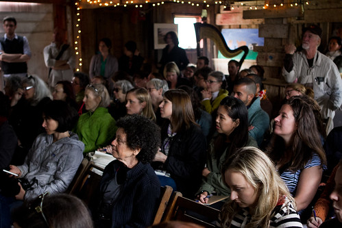 Attendees intensely listening to the speakers - Cook 'N Scribble's Food Writer's Revival | by myfoodthoughts