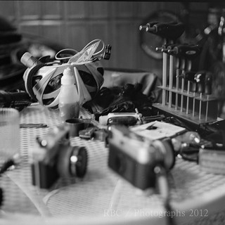 Two hobbies, Bicycles and camera's. Shot at 1/8 second up against my chest. | by rootbeer2004