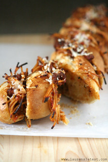 Spaghetti Stuffed Garlic Bread 2 | by laurenslatest
