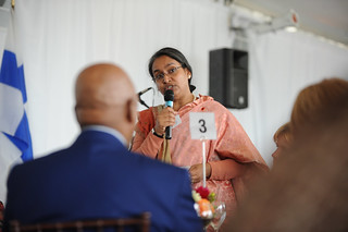 Dipu Moni, Minister of Foreign Affairs of Bangladesh, speaks about gender equality and the justice system in her country at the High-level Lunch Event on Strengthening Women's Access to Justice | by UN Women Gallery