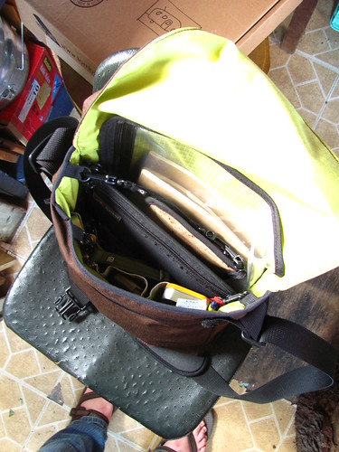 Tom Bihn Large Cafe Bag inside | by Stephanie Distler