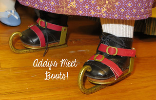 Caroline's Skates on Addy's Meet Boots | by scarlett1854