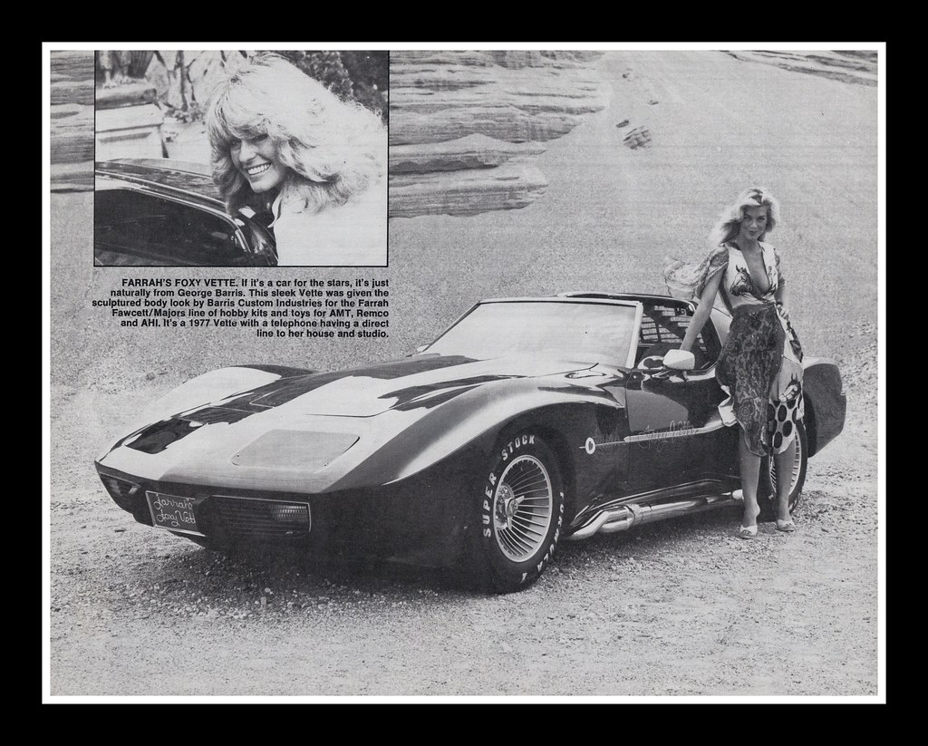 Farah Fawcett S Quot Foxy Vette Quot 1979 1977 Chevrolet