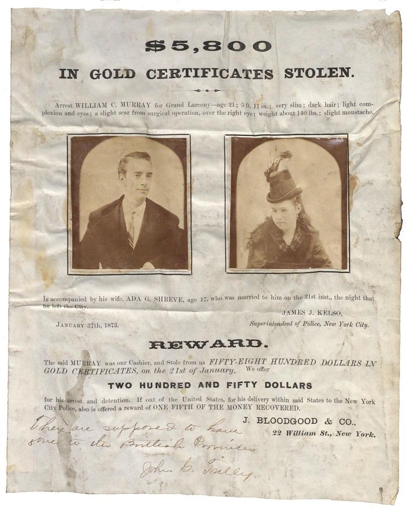 5800 In Gold Certificates Stolen Nova Scotia Archives Flickr