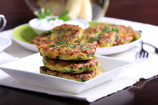 Olives for Dinner | Zucchini and Lemongrass Pancakes | by Olives for Dinner
