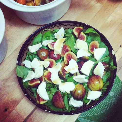 Mmmm... Spinach, fig and goat cheese salad. | by Susie Lubell