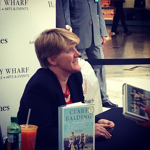 Clare Balding signing books in the wharf | by lourobbo