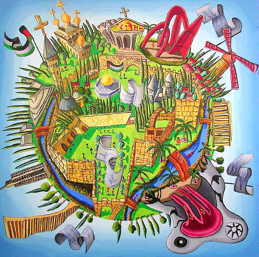 Art Painting Of City Mirorl Stewart