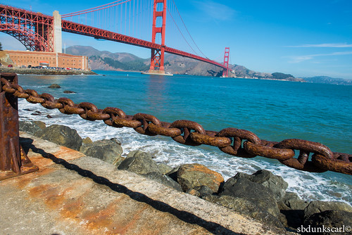 chain and the golden gate bridge | by sbdunkscarl