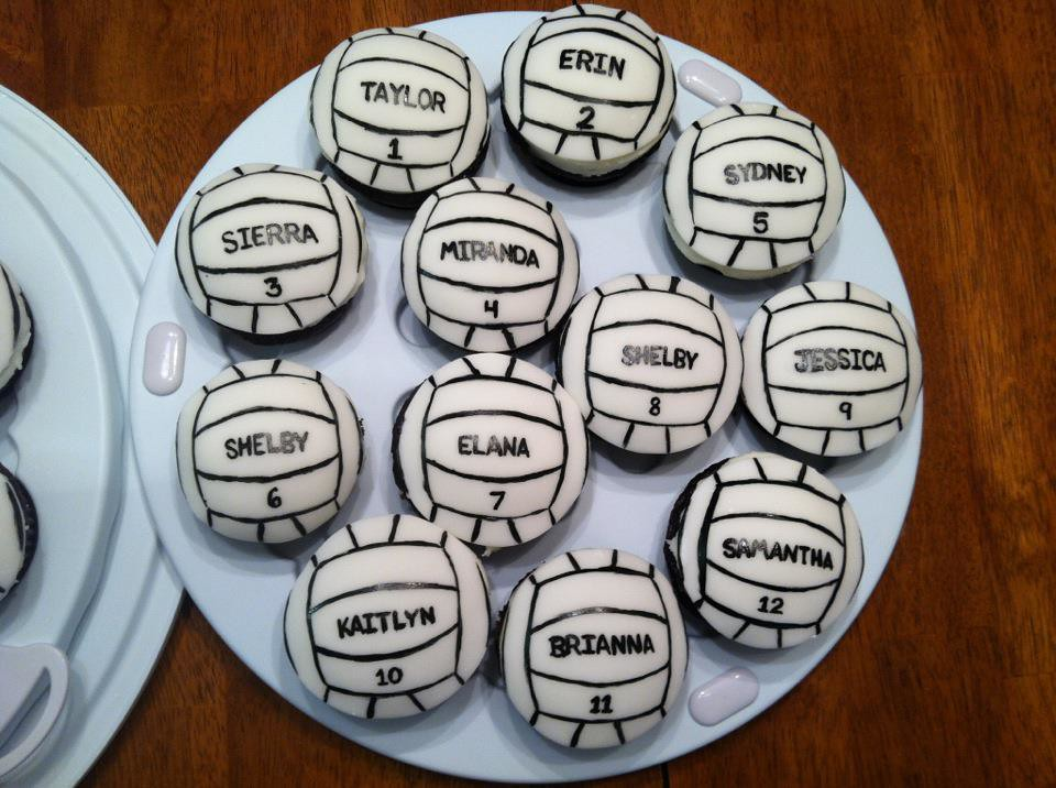 Cake Decorating Team Names : volleyball cupcakes volleyball cupcakes. Chocolate ...