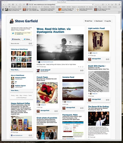 Steve Garfield on RebelMouse. A river of news social media home page. | by stevegarfield