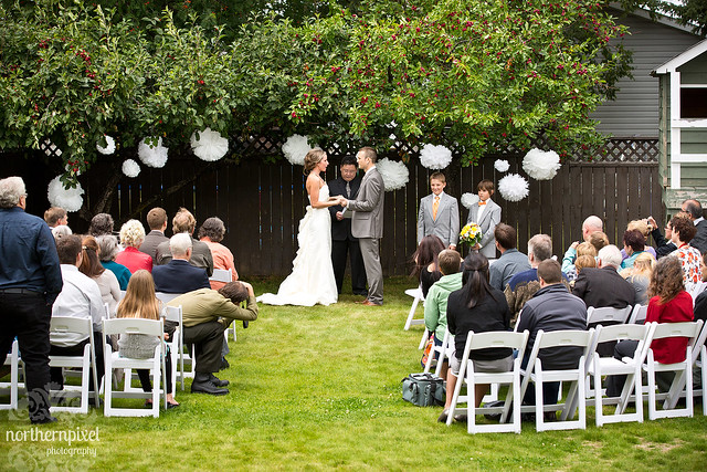 Flickr photo sharing for Backyard wedding ceremony decoration ideas