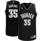 NBA Men's Oklahoma City Thunder Kevin Durant Black-Black-White Swingman Jersey | by basketballjerseyz