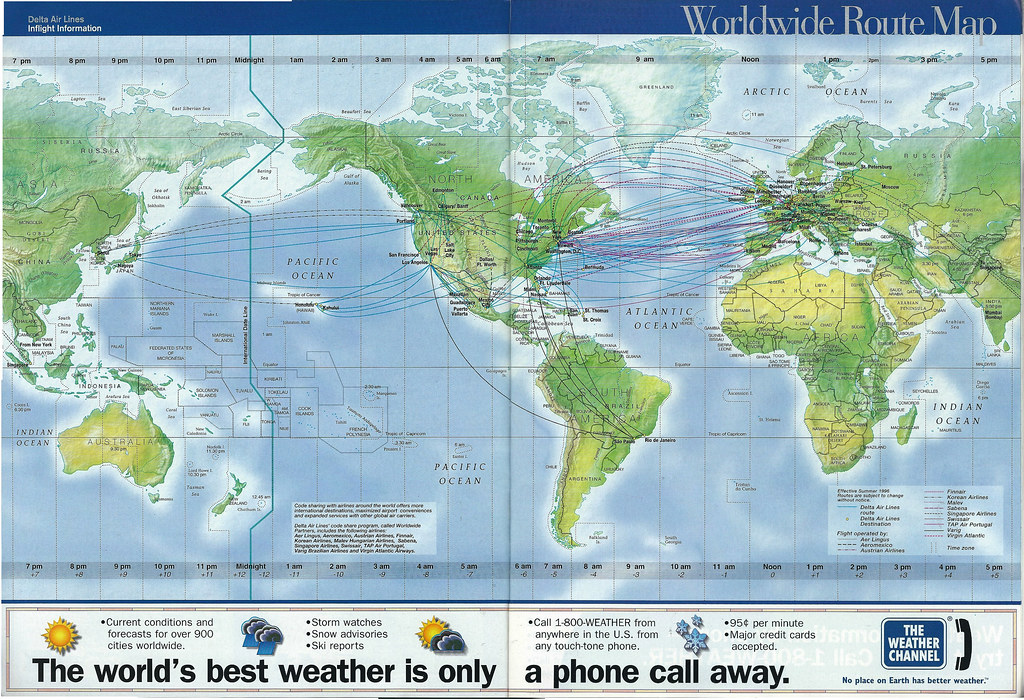 Delta Worldwide Route Map The Delta Air Lines Worldw Flickr - Delta route maps