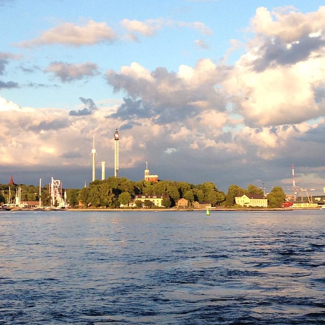 Grönan from the water - photographed by iHanna #stockholm