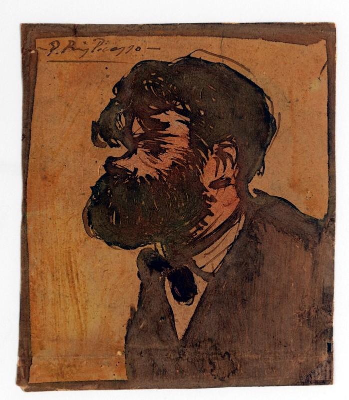 Picasso, Pablo (1881-1973) - 1900 Portrait of the Painter ...