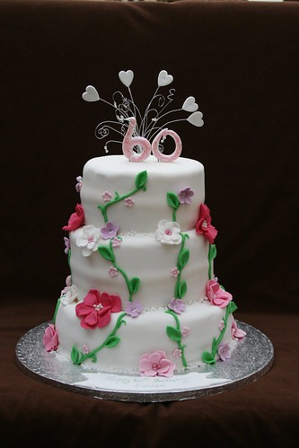 60th Birthday Cake Eldriva Flickr