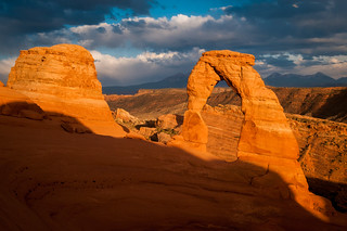 delicate arch at sunset | by Sam Scholes