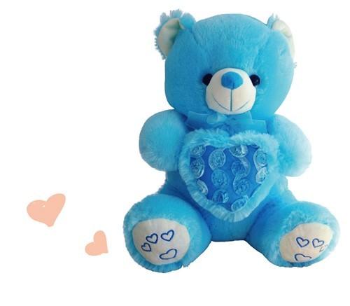 Valentines Blue Teddy Bear