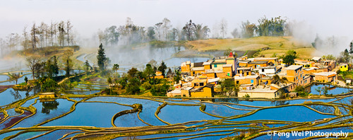 Hani Village By Terraced Field | by Feng Wei Photography