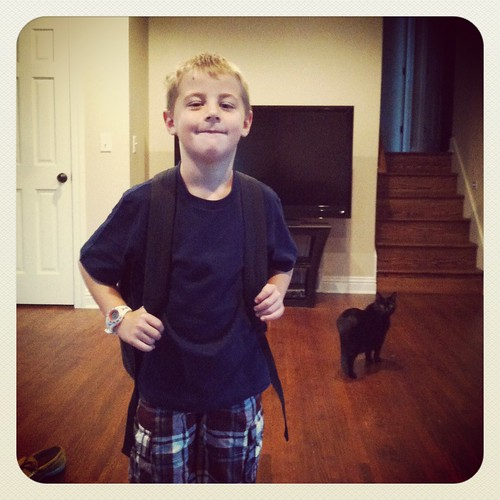 9/4/2012 - Zachary's First Day of 2nd Grade | by niczak