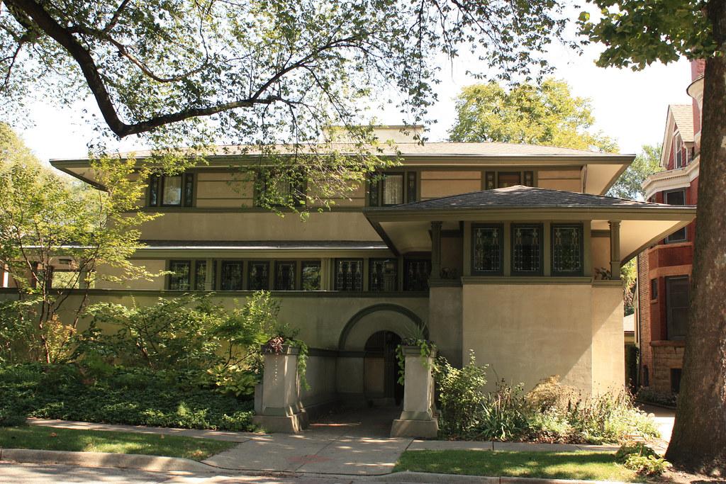 Frank thomas house by frank lloyd wright oak park illi for Frank lloyd wright house piani gratuiti