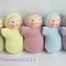 5 pastel babies