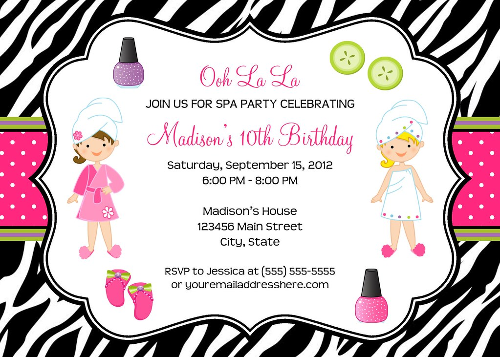 Pamper Party Invite as great invitations ideas