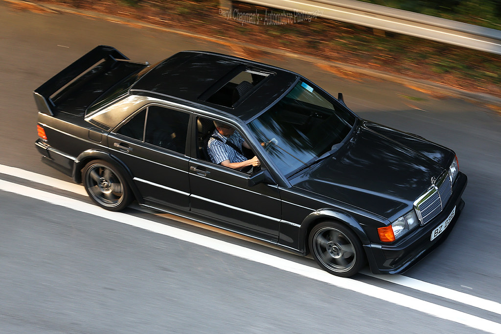 C B on mercedes 190e cosworth