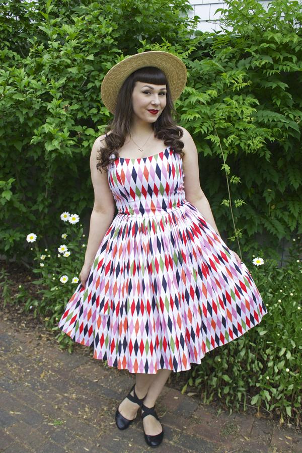 pinup girl clothing harlequin dress