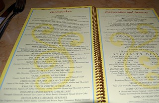 Cheesecake Factory Menu | by Laura-Elizabeth