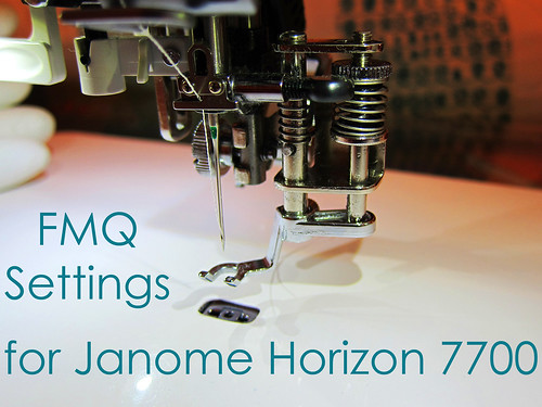 FMQ on the Janome Horizon | by banquopack