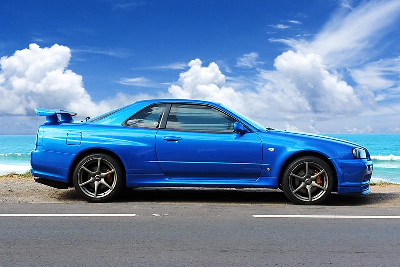 Nissan Skyline R34 GTR Vspec - Bayside Blue Vspec - Palm B ...