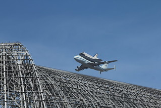 Endeavour over Hangar one | by arnolddeleon