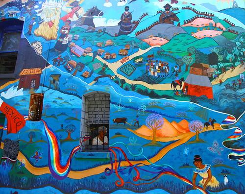 Chiapas paz mexico zapatista mural san francisco ca for Mural zapatista