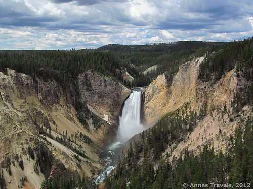 Lower Yellowstone Falls from Lookout Point, Wyoming