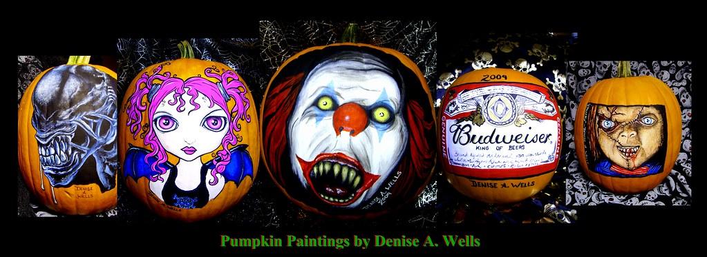 halloween facebook banner pumpkin paintings denise a wells halloween facebook banner - Halloween Facebook Banners