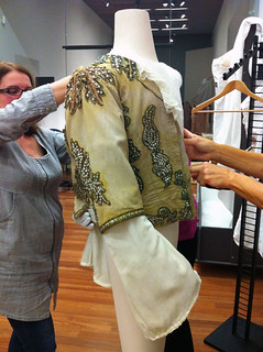 Cristina and Francesca dressing mannequin with jacket designed by Oliver Messel and worn by Rudolf Nureyev as Prince Florimund in Act III of The Sleeping Beauty, 1962  ©Sarah Bailey Hogarty 2012 | by Royal Opera House Covent Garden