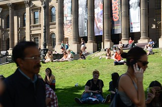 Lawn - State Library of Victoria on a warm Spring Day 29.9c | by avlxyz