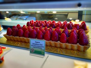 Giant strawberry tart at the Noe Valley Bakery, San Francisco | by ericwagner