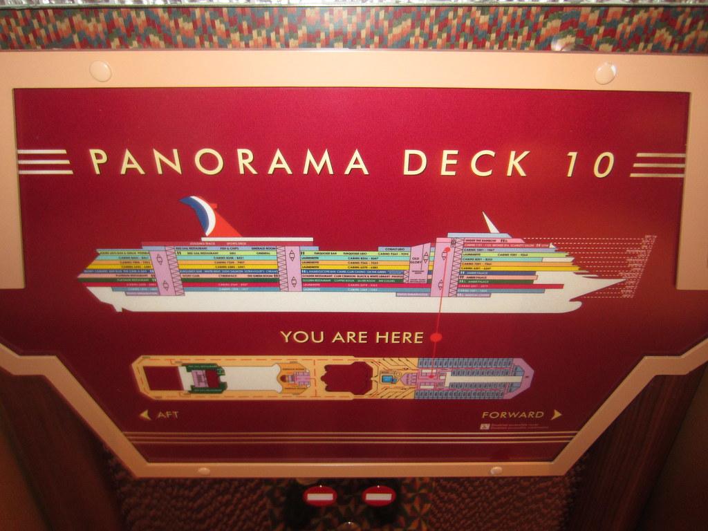 Carnival Cruise Line Carnival Glory Ship Panorama Deck 1