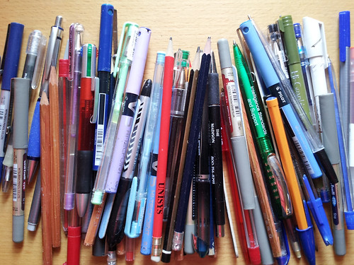 pens from a carrier bag | by flikr