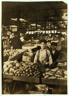 Fruit Venders, Indianapolis Market, aug., 1908. Wit., E. N. Clopper.  Location: Indianapolis, Indiana. (LOC) | by The Library of Congress