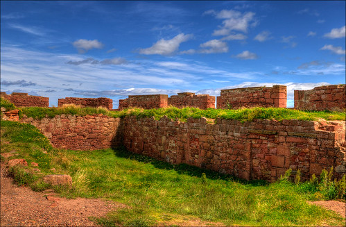 foundation walls of the old fortress Dunbar | by Romtomtom
